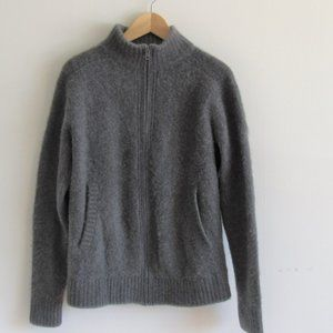 Patagonia Pure Cashmere Zip Front Grey Sweater